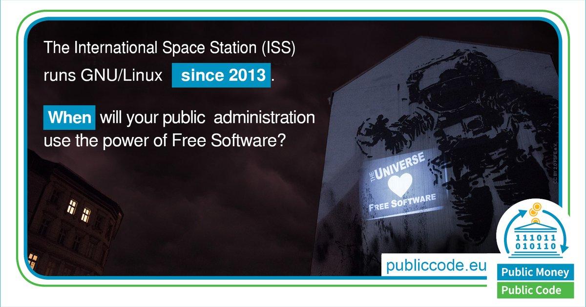 img: The International Space Station runs GNU/Linux since 2013...